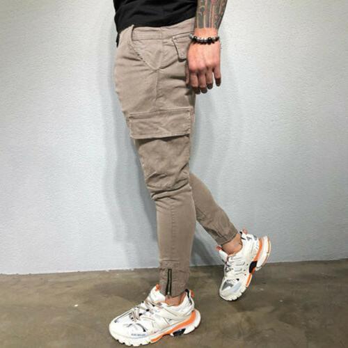 Men's Pocket Pants Straight Fit Denim
