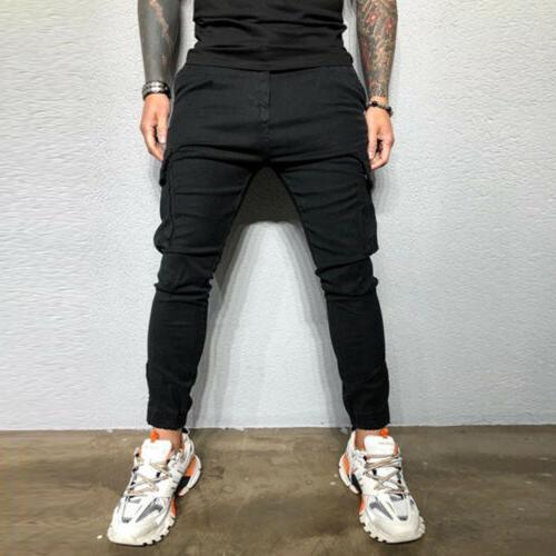 Men's Zipper Pants Fit Denim Trousers