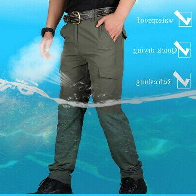 Men Waterproof Hiking Pants Tactical Climbing Trousers