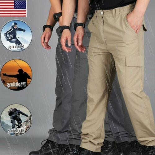 men waterproof quick dry hiking pants outdoor
