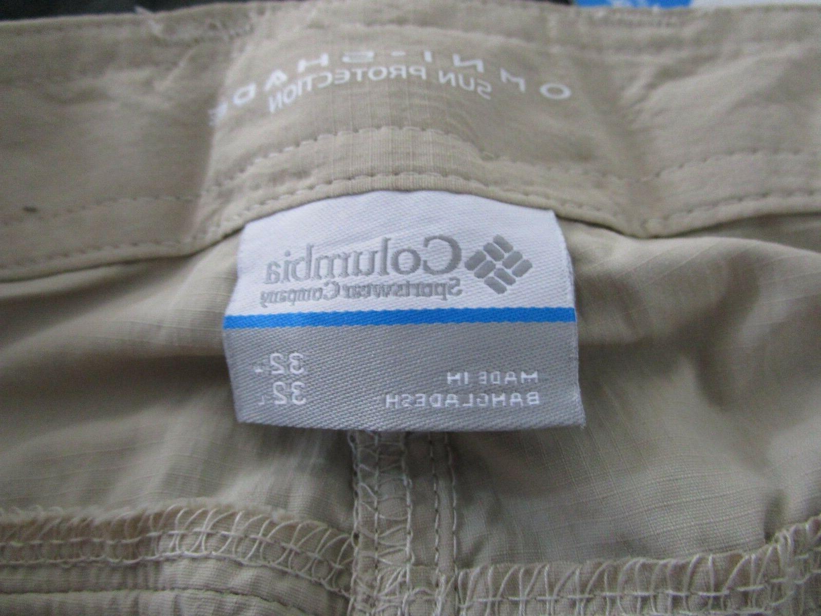 Mens 30-32-34-36-38-40 Columbia PFG Palm Pants - Fossil