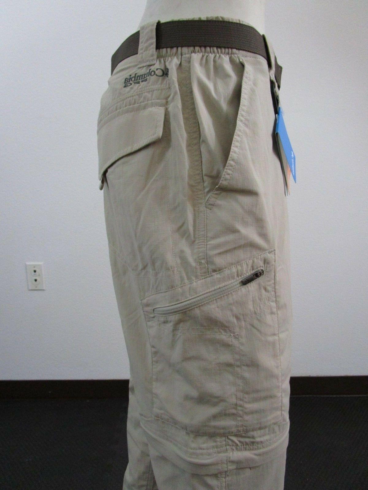 Mens 30-32-34-36-38-40 Columbia Palm Fishing Convertible Pants