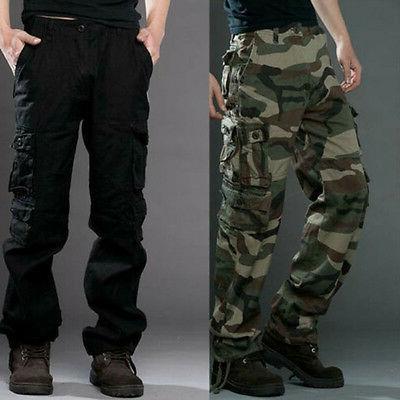 Men Camo Cargo Long Camouflage Army