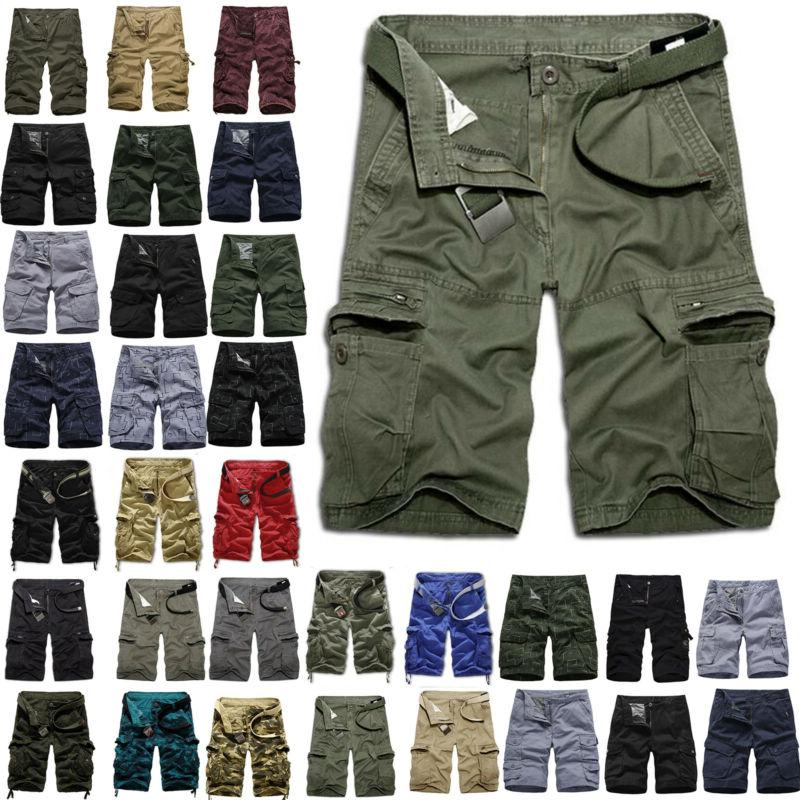 mens army military cargo combat shorts summer