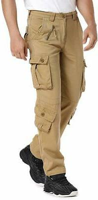 Jessie Kidden Mens Beige Size 32X30 Military Cargo Pants Str