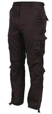 Mens Brown Cargo Pants Military Style Paratrooper Cargo Fati