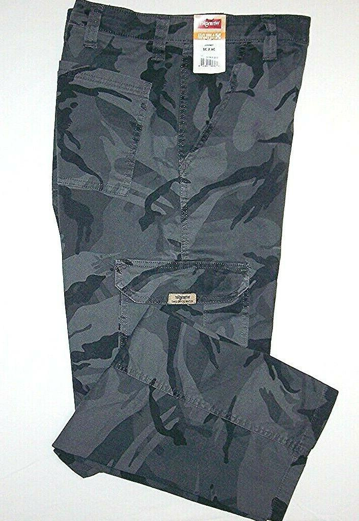 mens camo flex cargo pants relaxed fit