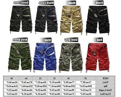 Mens Army Combat Camo Pants Summer Casual