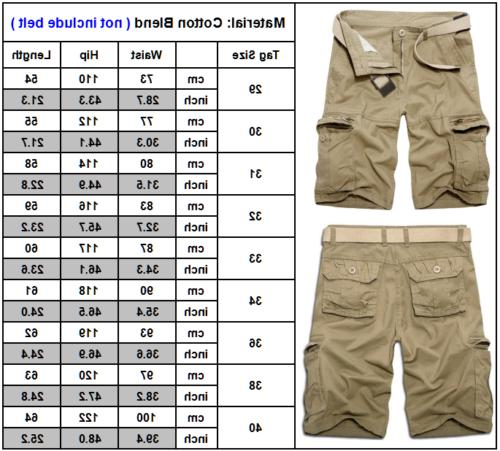Mens Cargo Pants Shorts Trousers Casual Work Military Camo