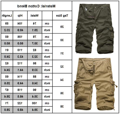 Mens Pants Shorts Trousers Casual Work Military Combat Army