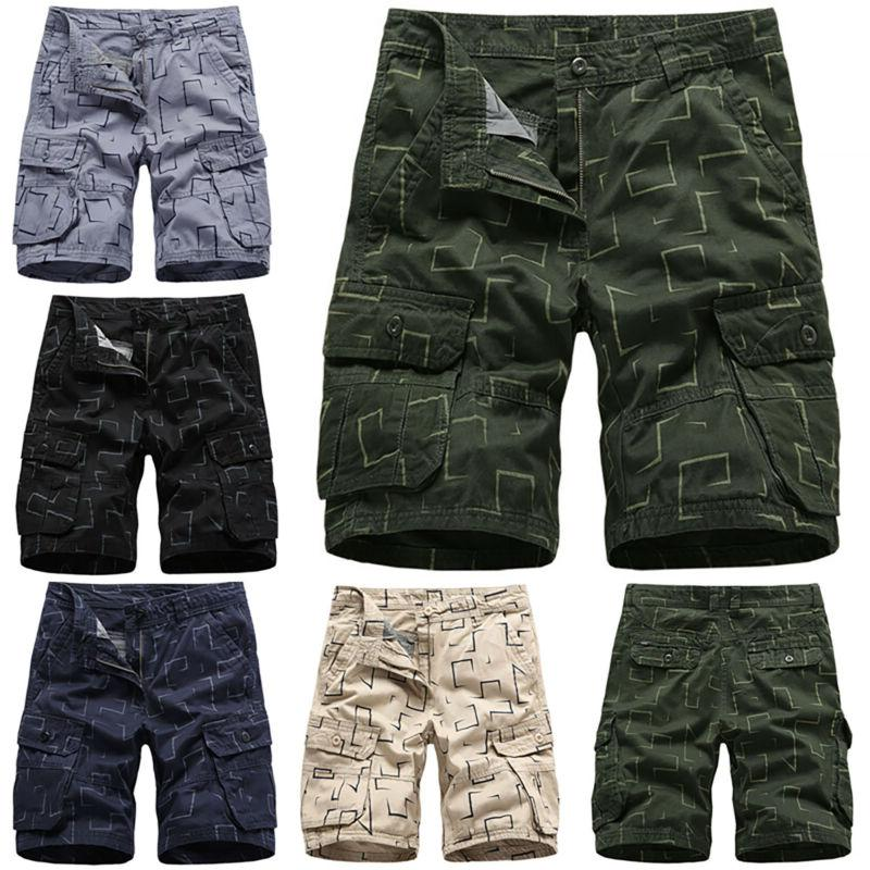 Mens Cargo Combat Shorts Summer Short