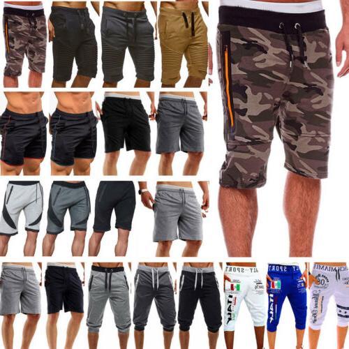 Mens Cargo Shorts Casual Beach Gym