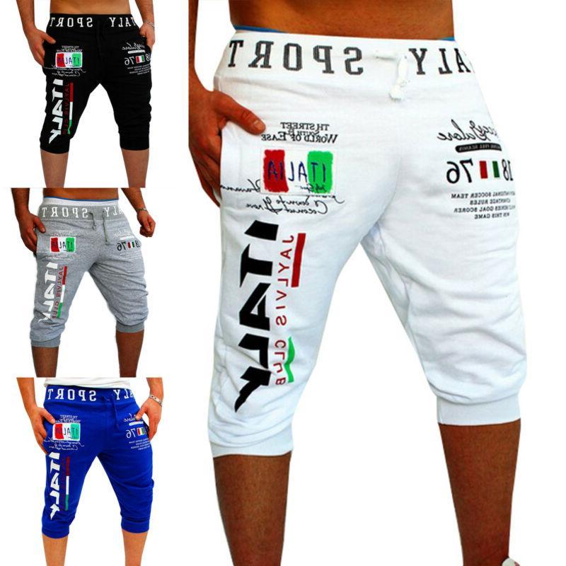 Mens Shorts Casual Summer Gym Plain Elastic