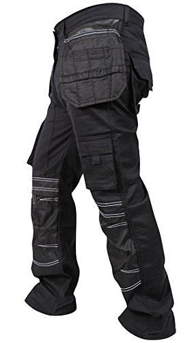 Newfacelook Mens Cargo Trousers Working Cordura Pockets