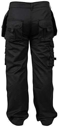 Newfacelook Mens Trousers Working Pants Pockets
