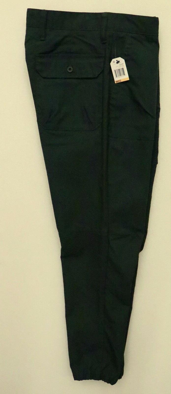 NAUTICA MENS CASUAL GREEN TECH PANTS CARGO ELASTIC LEG OPENI