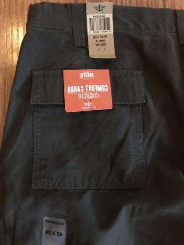 Dockers Mens Classic Fit Comfort Cargo Pants  Khaki 40 X 29