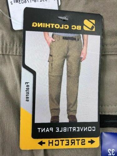 BC Mens Pant Stretch Shorts Variety