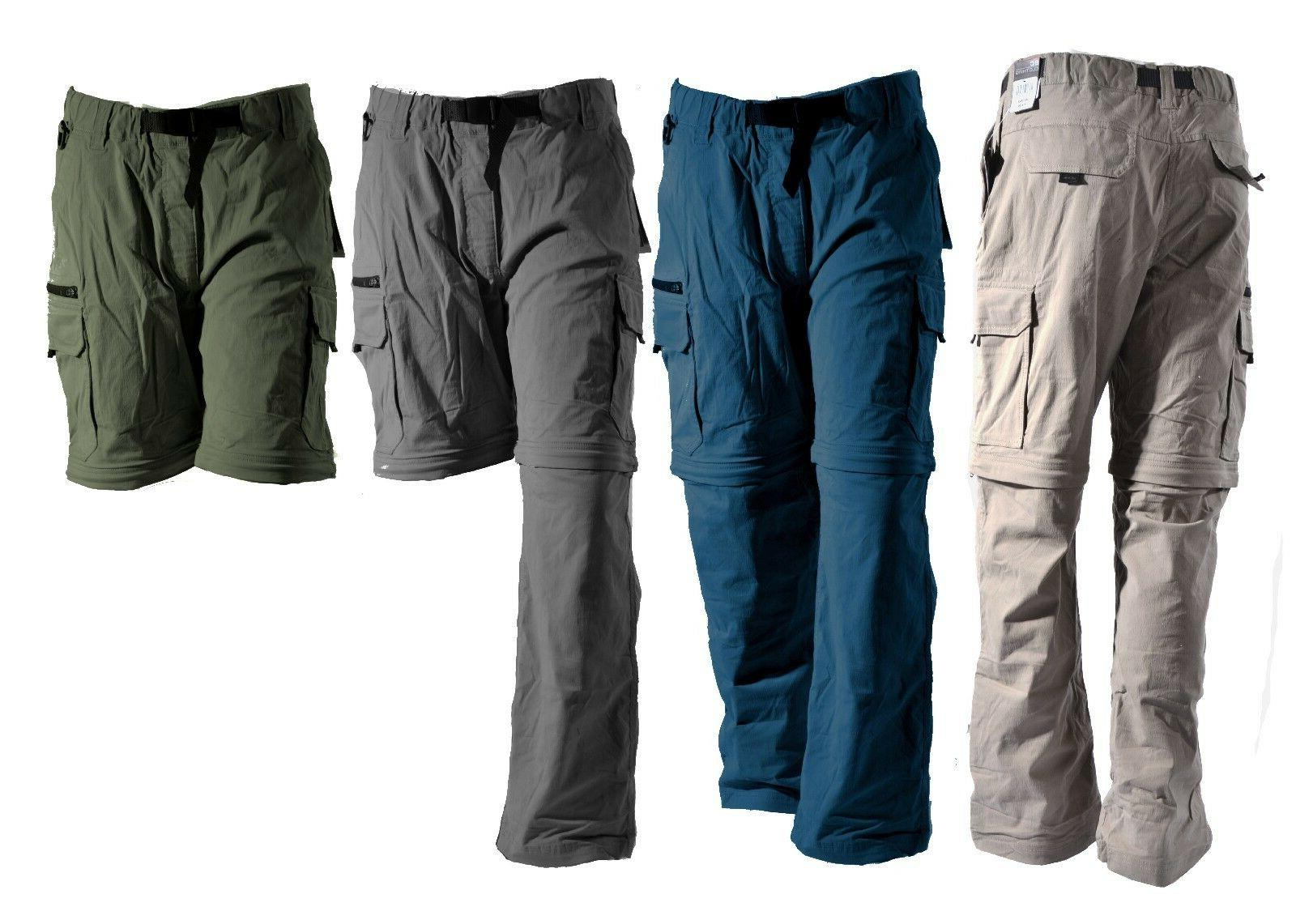 BC Clothing Mens Convertible Pants Zip-Off Cargo Shorts Hiki