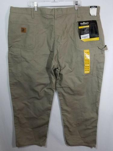 Carhartt Grey Washed Duck Work Dungaree Pants Jeans