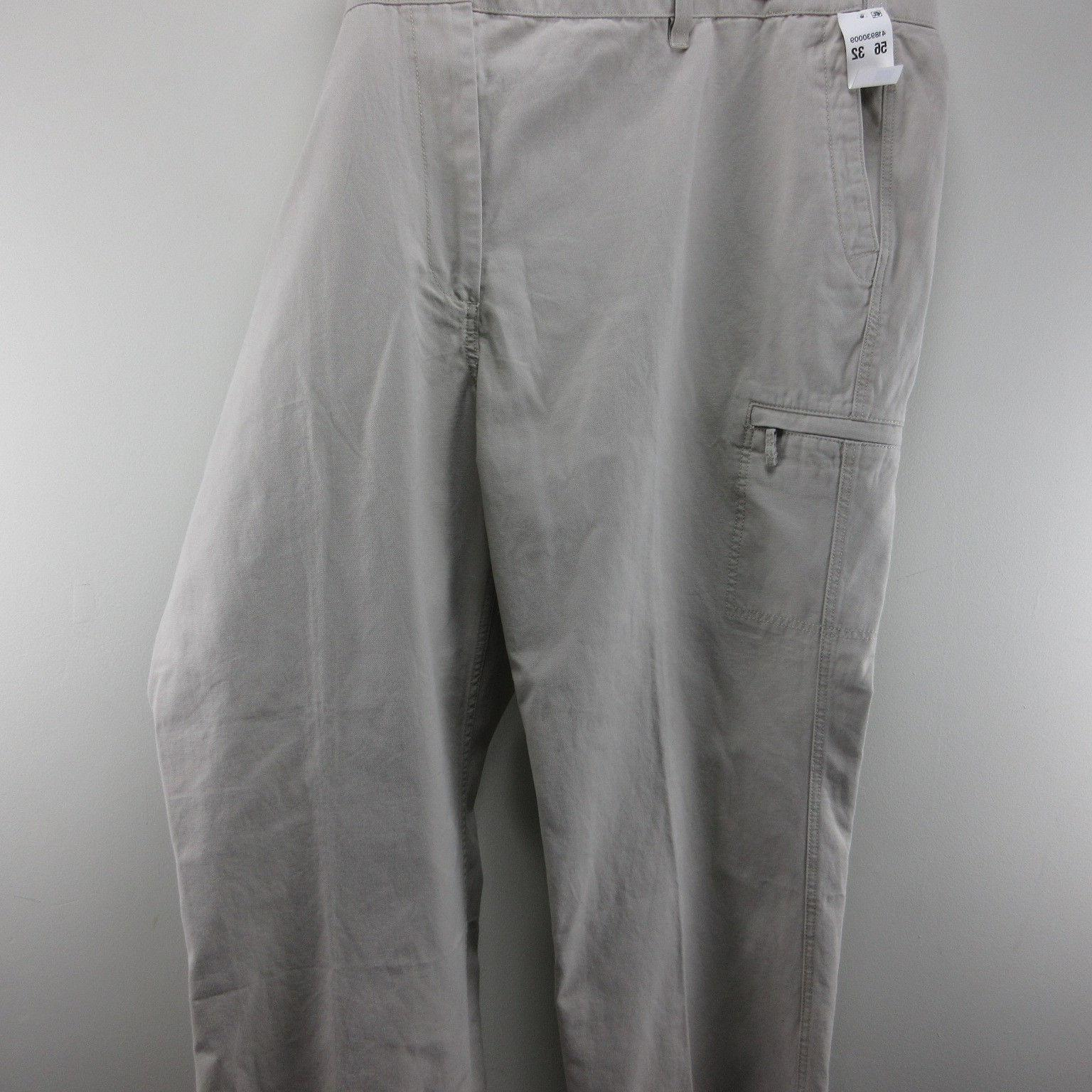 Mens Khaki Dockers Big Tall Pants Cargo Tan W L 32 Comfort In NWT