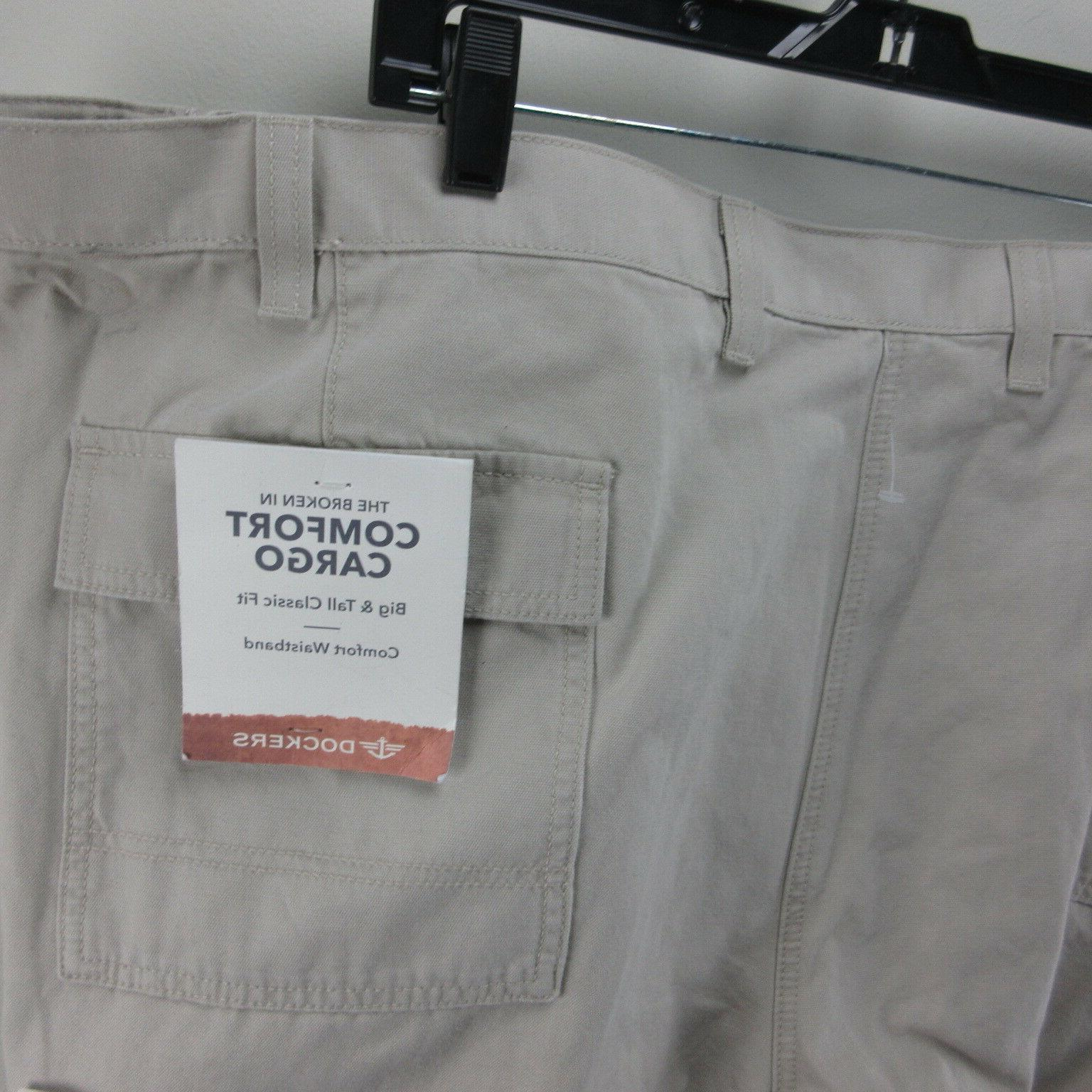 Mens Khaki Dress Dockers Big Tan 56 L 32 In NWT