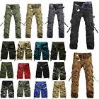 Mens Outdoor Hiking Army Cargo Combat Military Trousers Camo