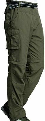 Jessie Kidden Mens Pants Army Green Size 38 Convertible Carg