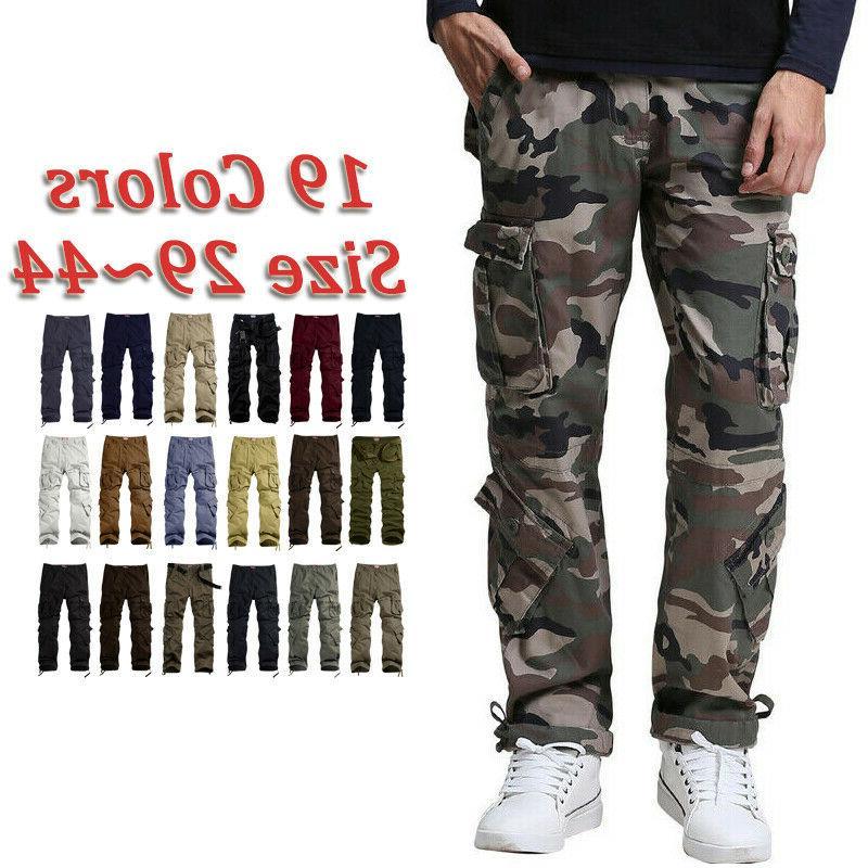 mens pants casual camo work hunting cargo