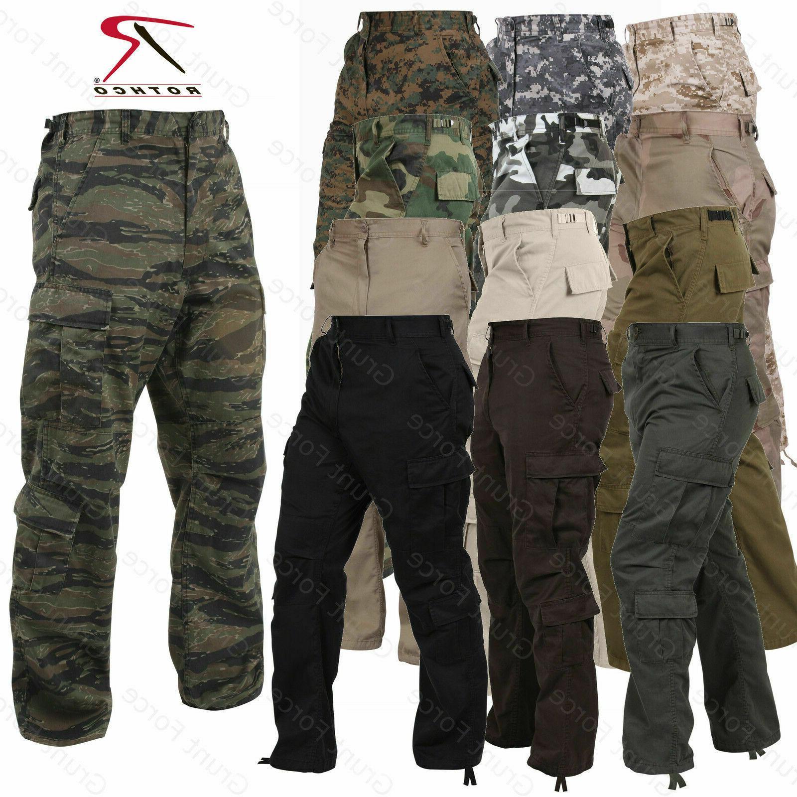Mens Paratrooper 8 Pocket Vintage Fatigues-Military Style Ca