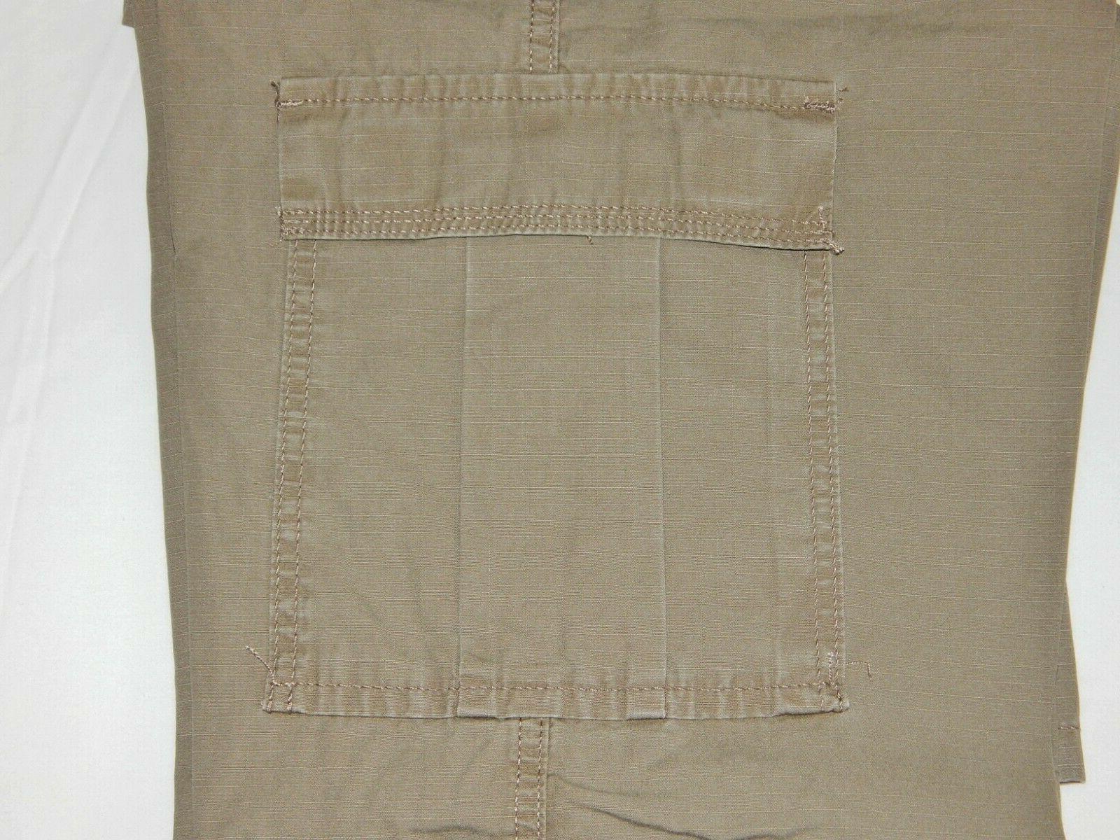 Mens Wrangler Pants 34-44 Relaxed Pocket Khaki