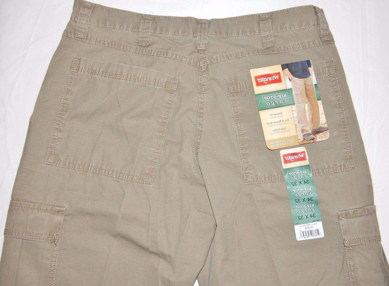 Men's Wrangler Cargo Pants Tech 34-48