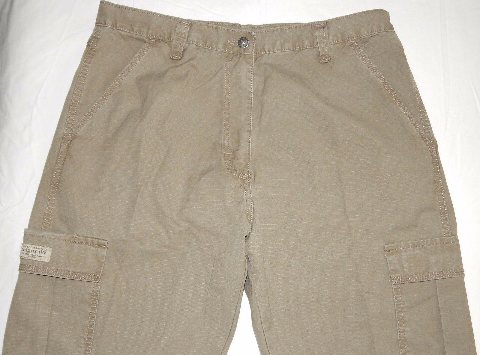 Men's Pants Khaki Relaxed Tech Pocket SIZES 34-48