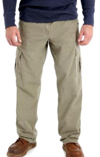 mens ripstop cargo pants khaki relaxed fit