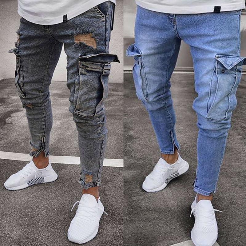 US Men Skinny Jeans Trousers Pants