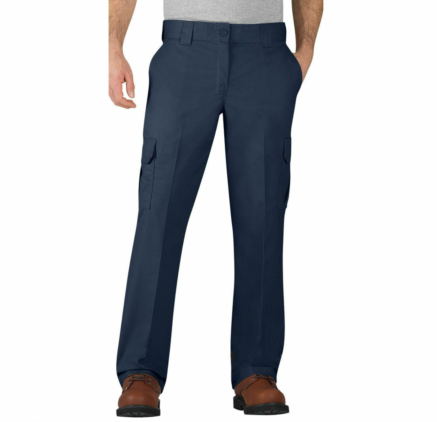 Mens Dickies Work Pants Regular Fit Straight Leg Cargo Pocke