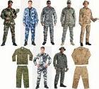 Military Camo BDU Tactical Combat Cargo Uniform  Tops & Bott