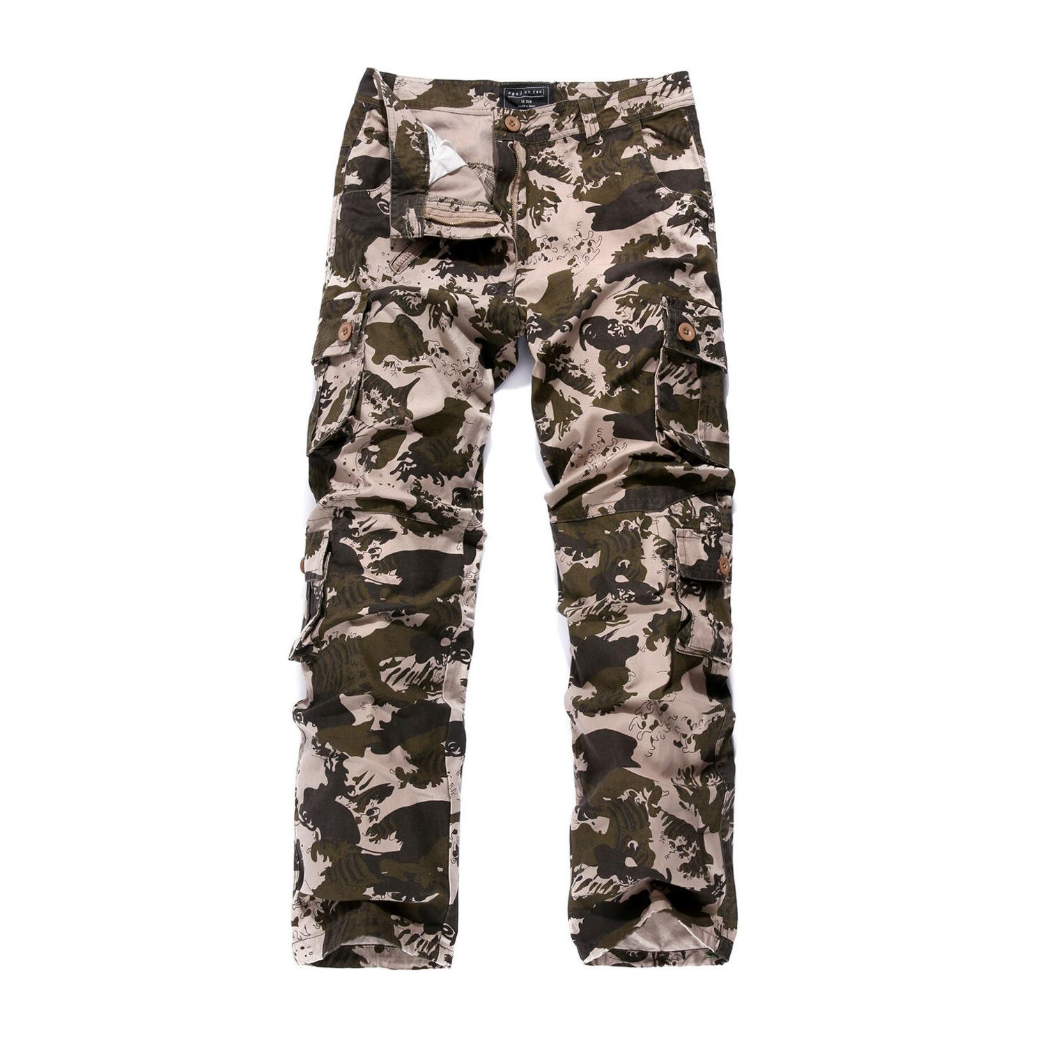 Military Men's Cotton Pants Combat Camouflage Army Style