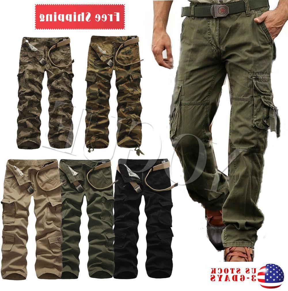 military men s cotton cargo pants combat