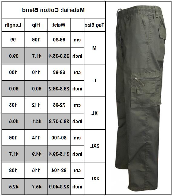 Men Outdoor Work Pants Army Cargo Camo