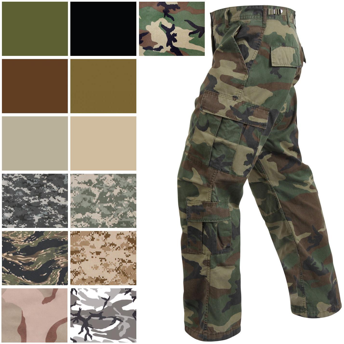 military paratrooper fatigues cargo camo pants 8