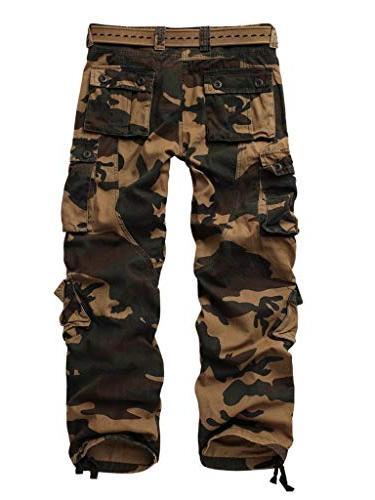 AKARMY Cotton Casual Cargo Camo Pants 8 Pocket 3357 Camo