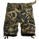 MUST WAY Men's Multi Pocket Slim Fit Cotton Twill Cargo Shor