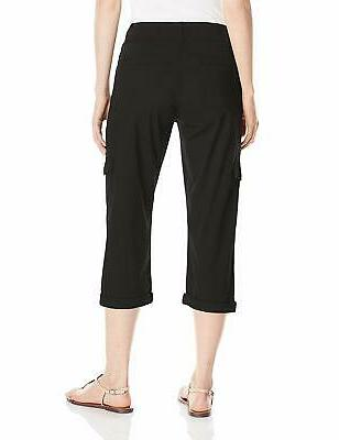 Lee NEW Black Women's Size 16 Medium Relaxed Cargo Stretch $102