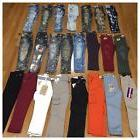 New Boys Size 6 Fashion Denim Moto Jogger Cargo Paint Acid W