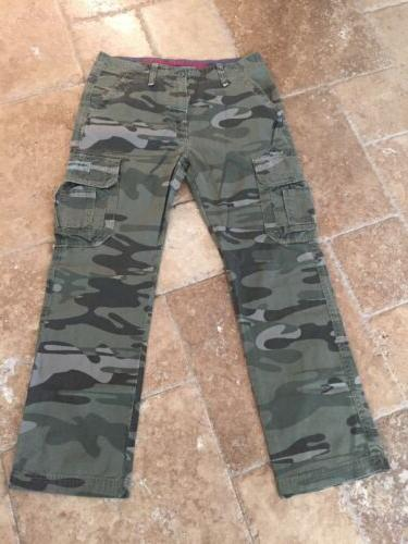 UNIONBAY NEW!!! Men's 100% Cotton Khaki Camouflage Cargo Pan