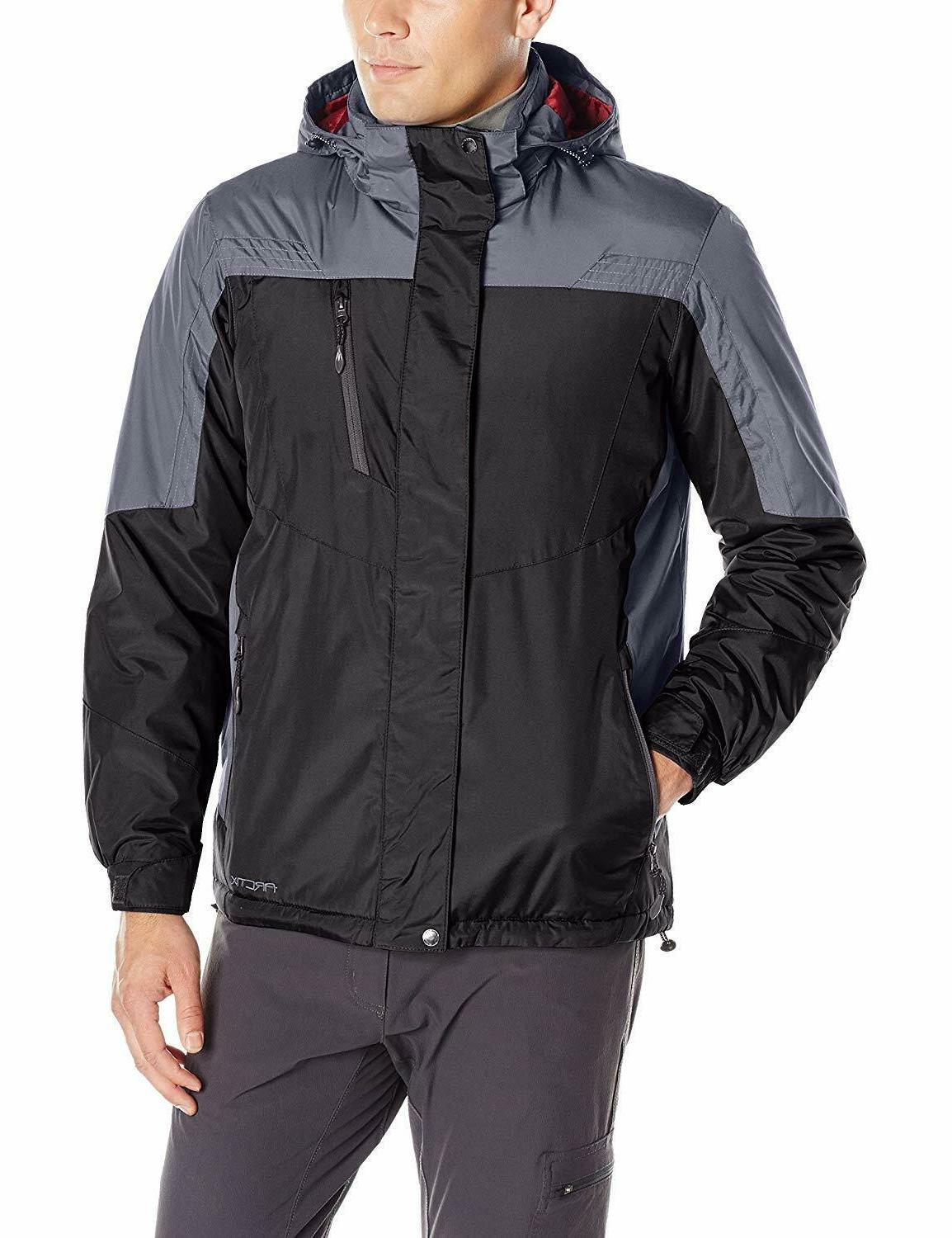 NEW Arctix Men's Blackstone Insulated Jacket, X-Large Charco