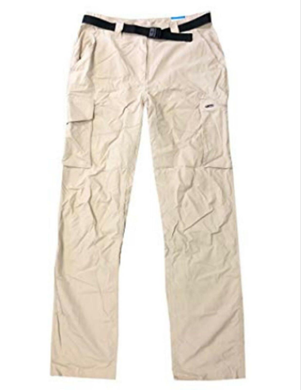New Columbia Men's Kestrel Trail Pants UPF 50 Beige Tan Foss