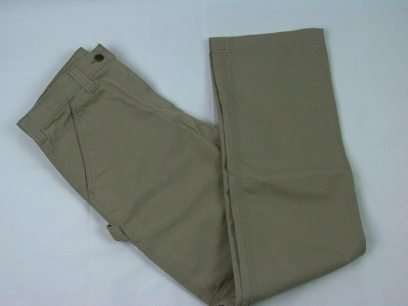 New Relaxed Fit Washed Twill x 32 Khaki Cargo