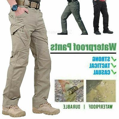 new men tactical waterproof work cargo long